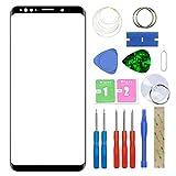 MovTEK Pantalla Repuesto Cristal Tactil Frontal Original para Samsung Galaxy S9 Plus S9+ G965F con Kit de Herramientas y Adhesivo 3M Negro