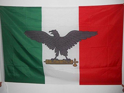 AZ FLAG Bandera de la REPÚBLICA Social Italiana 90x60cm para Palo - Bandera Italia FASCISTA - RSI 60 x 90 cm