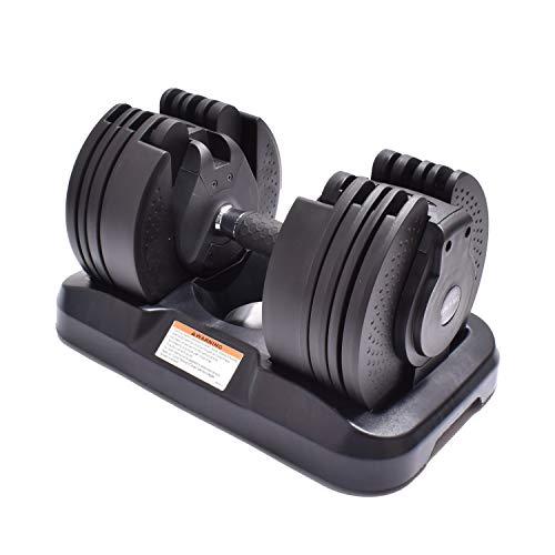 FORCE-MX Manubrio Regolabile per Uomo e Donna con carico da 2 kg a 20 kg Plus 5 Fasce Elastiche/riscaldanti in Lattice Naturale