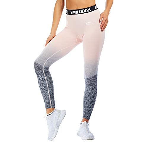 SMILODOX Sport Leggings Damen 'Recent' | Seamless - Figurformende Tight für Fitness Gym Yoga Training & Freizeit | Sporthose - Workout...