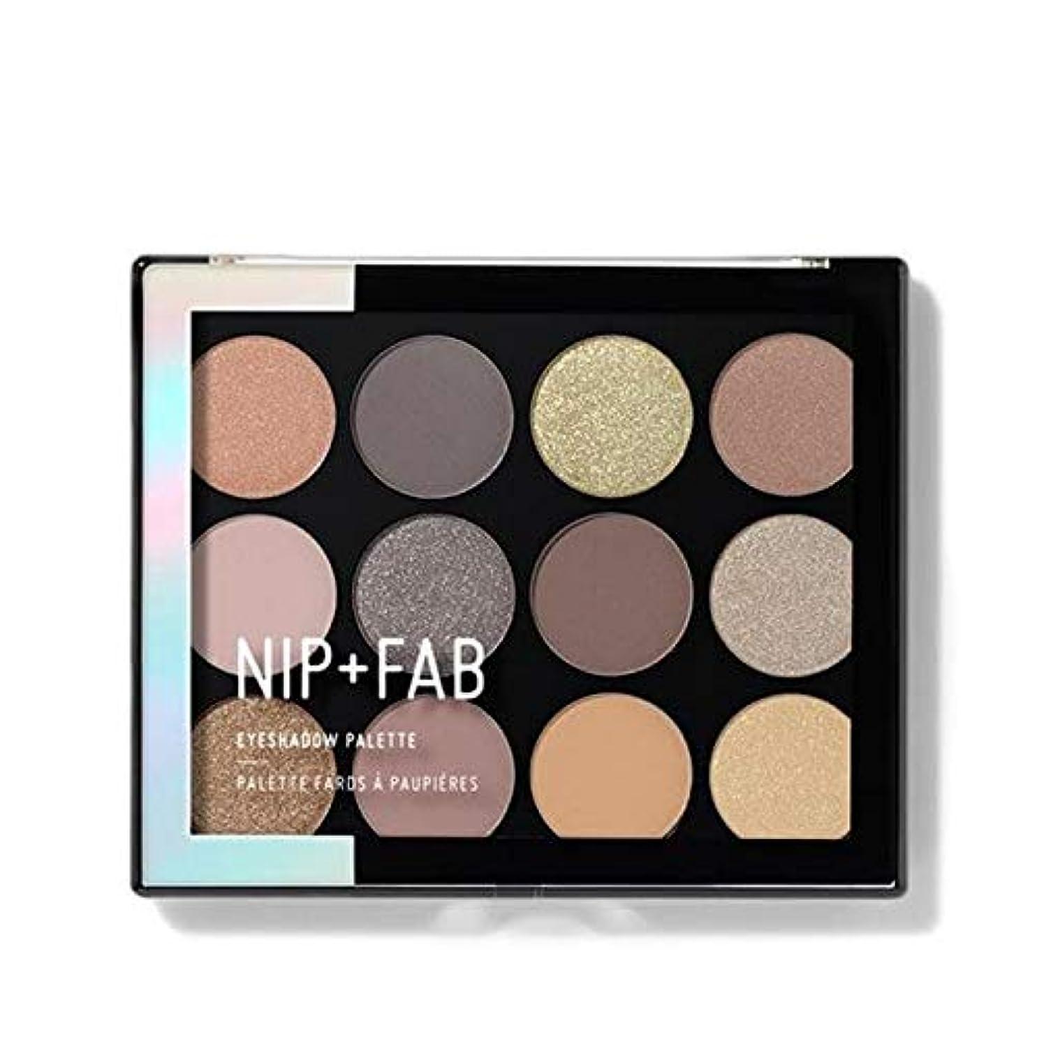 [Nip & Fab ] アイシャドウパレット12グラム穏やかグラム4を構成するFab +ニップ - NIP+FAB Make Up Eyeshadow Palette 12g Gentle Glam 4 [並行輸入品]