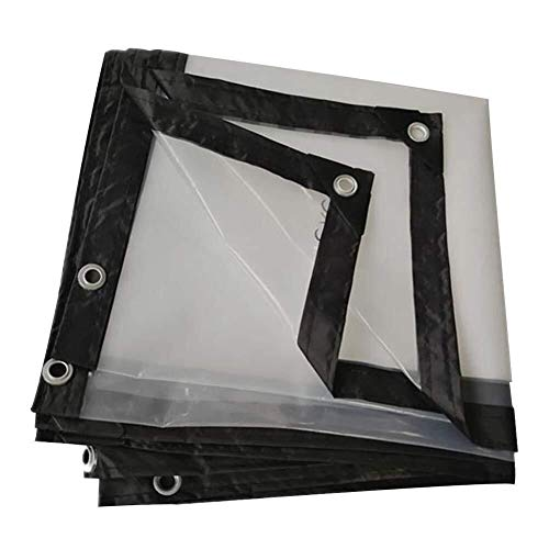 ZXF Hogar Lona Impermeable/Lona Impermeable Heavy Duty Espesamiento Transparente Pergola protección Solar Hemming Refuerzo PVC a Prueba de Lluvia Cloth Metal/Lona de camión Pesado (Size : 4X5M)