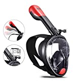BJX Full Face Snorkel Mask,180° Panoramic View, Free...
