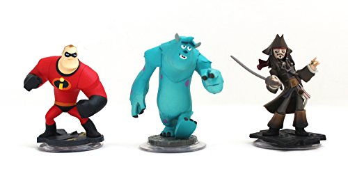 Disney Infinity Characters Jack Sparrow Mr Incredible, Monster Inc Sully Wii PS3 XBOX360 by Disney Infinity