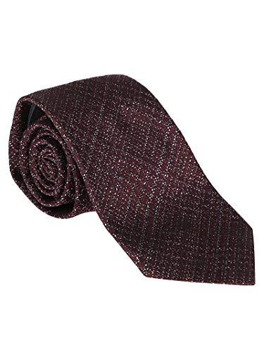 Ermenegildo Zegna Luxury Fashion Herren Z6D46A Bordeauxrot Seide Krawatte | Jahreszeit Permanent