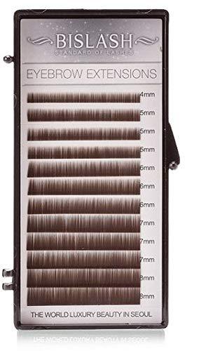 Extensiones de cejas para cejas artificiales Eyebrow de 4 a 8 mm, color marrón oscuro