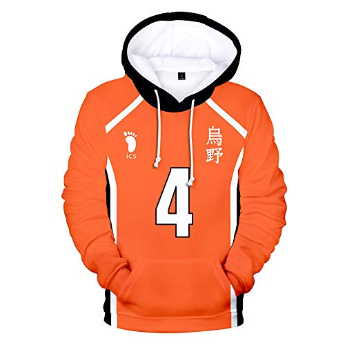 Haikyuu!! TO The Top Sudadera con Capucha Cosplay Casual Moda Manga Versión Suelta larg Tops