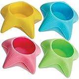 Island Genius Beach Vacation Accessories Starfish Drink Cup Holder Sand Coasters
