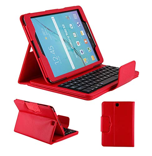 FANG Keyboard Case for Samsung Galaxy Note/Pro P600/T520 10.1 inch, Slim PU Leather Case Cover Detachable Magnetically Keyboard for Samsung Galaxy Note/Pro P600/T520 10.1 Inch,Red