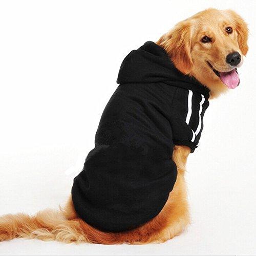 Namsan Hundepullover Winter Pullover für Große Hunde Hundemantel Warm Hundepulli Hundekleidung für Grosse/Mittlere Hunde Schwarz-6XL