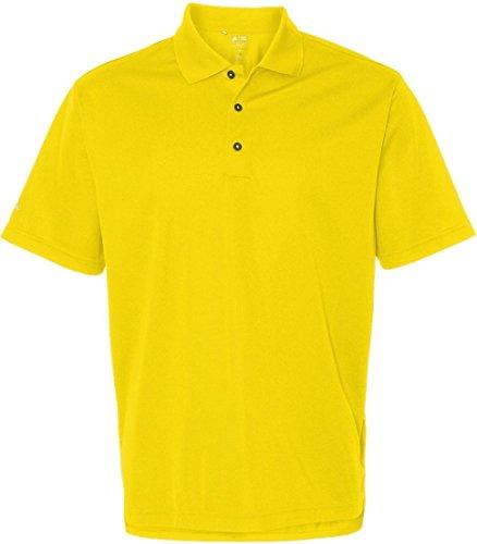 adidas Golf Men's ClimaLite Basic Short-Sleeve Polo Shirt - Yellow ssA130 2XL