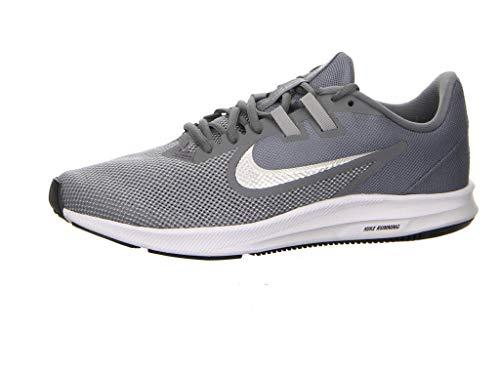 Nike Downshifter 9 Scarpe da Running Uomo, Grigio (Cool Mtlc Silver/Wolf Grey/Black/Pure Platinum/White 001), 46 EU