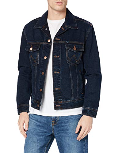 Wrangler Herren Authentic Western Jacket Jeansjacke, Blau (Blue Black), XXXX-Large