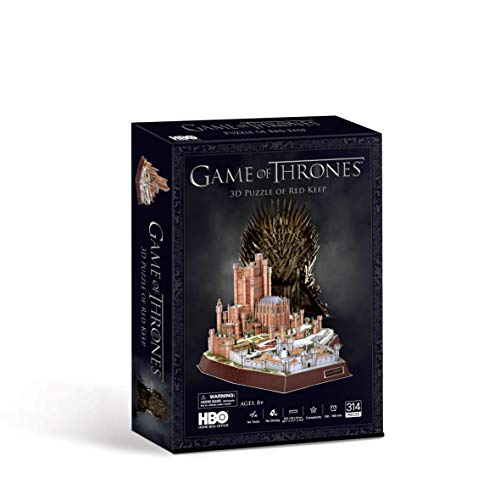 Paul Lamond- Game of Thrones Red Juego de Tronos Rojo Keep 3D Puzzle, Multicolor (7465)