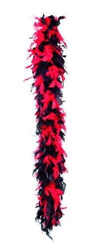 50 gramos boa de plumas, rojas y 1.80m Partido Negro , Modelos/colores Surtidos, 1 Unidad