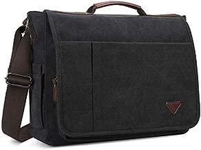 Laptop Bag 17 inch, Mens Messenger Bag Computer Bag Travel Casual Business Canvas Student Shoulder Bag for men