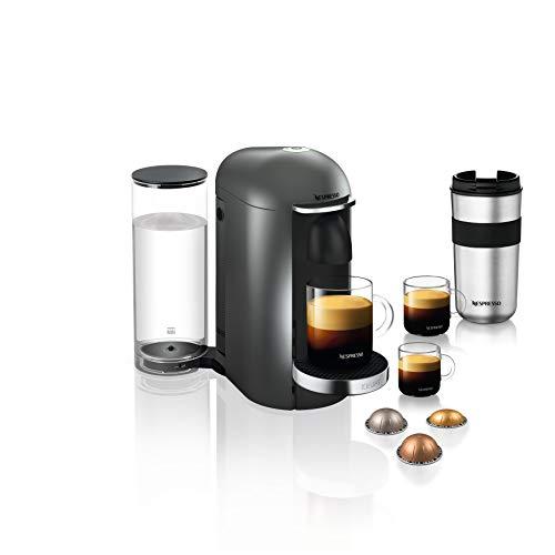 Krups Nespresso Vertuo Plus Machine à café Capacité du réservoir : 1,7 l Titanium/acier inoxydable.