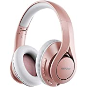 Mpow 059 Pro 60Hrs Bluetooth Headphones Over Ear, Hi-Fi Stereo Bass Wireless Headphones with Mic, Foldable Headset with Soft Memory Foam Earmuffs, Bluetooth 5.0 & Wired Mode for Cellphone PC TV