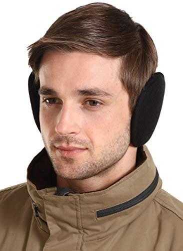 Ear Muffs for Men & Women - Winter Ear Warmers/Covers - Behind The Head Style Fleece Earmuffs Black