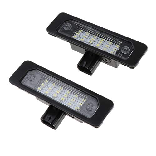 P Prettyia 2pcs Plug And Play LED License Plate Lights for Focus Fusion