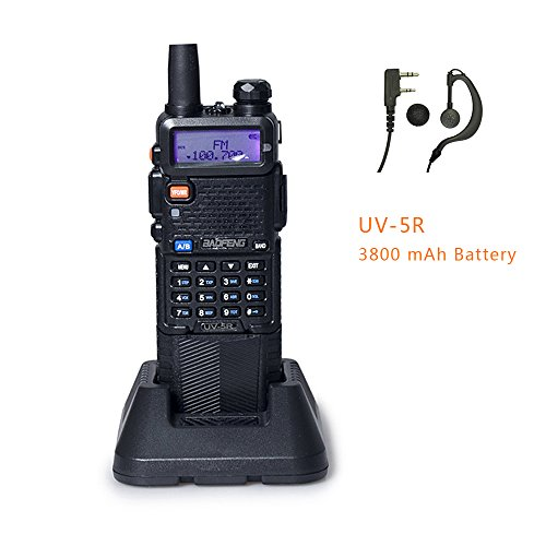 BAOFENG UV-5R Upgrade Version 3800mAh Battery Two Way Radio (Black)