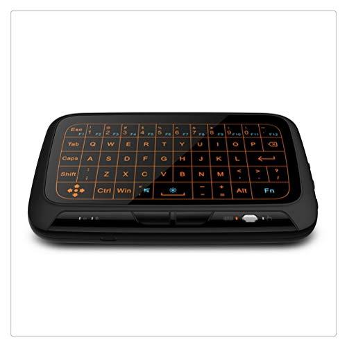 Liberación Mini Teclado Inalámbrico Air Mouse Pantalla Táctil Completa Teclado QWERTY De 2,4 GHz Touchpad con Función De Retroiluminación para Smart TV