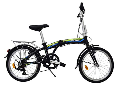 Monk Bicicleta Flink Plegable/Alum Rodada-20 7 Velocidades (Verde)