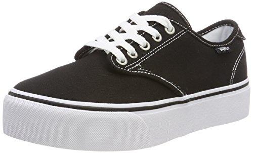 Vans Damen Camden Platform Sneakers, Schwarz ((Canvas) Black/White 187), 39 EU