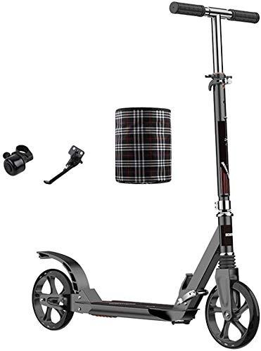 Patín Eléctrico Kick Scooter adultos con doble suspensiones y ruedas grandes plegable...
