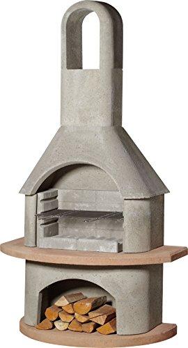 Buschbeck Carmen grill fireplace, grey/terracotta 65x 110x 203 cm