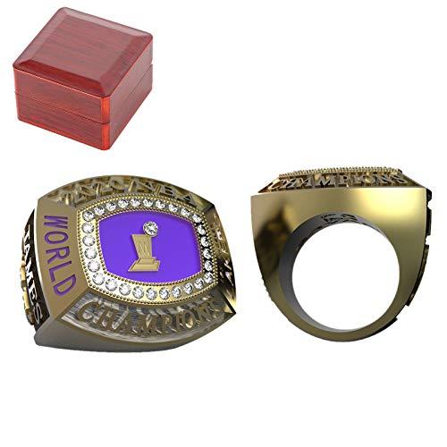 WANZIJING Lakers el Anillo de Campeonato, 2020 Anillo de Dedo de la NBA Campeonato Réplica Anillos Fan de Deportes para Hombre Regalo,with Box,12