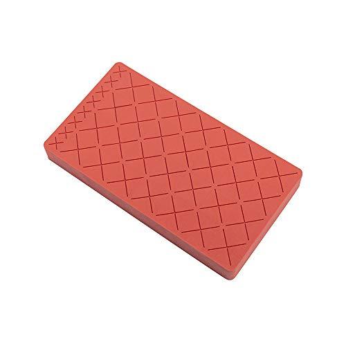 WUYANJUN Support de Rouge à lèvres en Silicone, Support de Rangement cosmétique 28 + 8 emplacements, Rouge Brique, pour Brillant à lèvres et Petites brosses, cosmétique Non Inclus