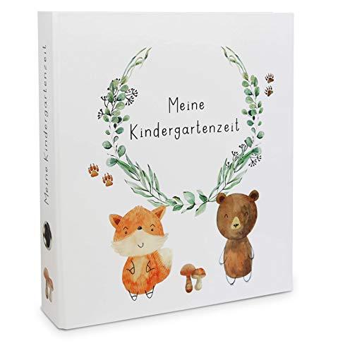 """Preisvergleich Produktbild Sammelordner""""Meine Kindergartenzeit"""" mit Griffloch DIN A4,  Platz für 350 Blatt,  Kinder / Fuchs Bär / Erinnerungsordner / Schule"""