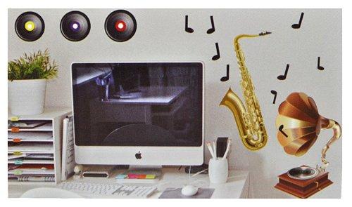 alles-meine.de GmbH XXL Wandtattoo / Sticker - Instrumente Violine Saxophon Musik - selbstklebend Noten Gitarre Wandsticker Aufkleber