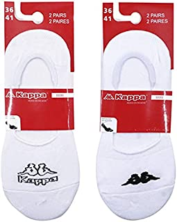 ] Calcetines Deporte Mujer Invisibles Blancos Talla 36/41 [2 packs de 2 pares]