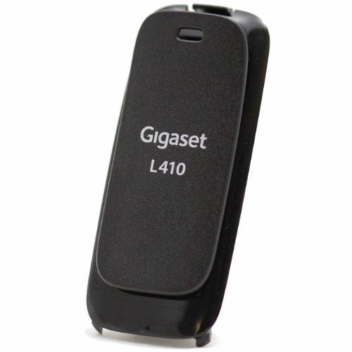 Tapa para batería con clip para el cinturón para Gigaset, L410, original, color: negro