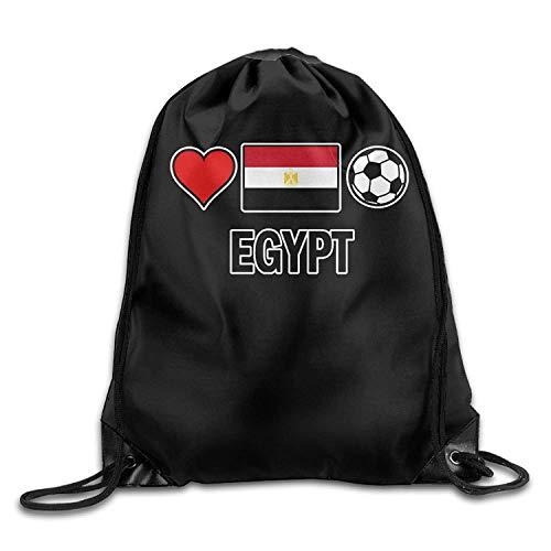 ZHIZIQIU Egypt Football Soccer-1 Drawstring Backpack Bag Beam Mouth School Travel Backpack Shoulder Bags for Men & Women