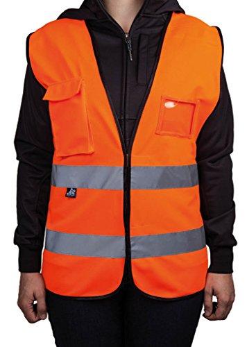 Warnweste mit Brusttaschen, fluoreszierend orange