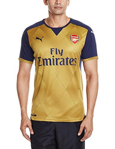 PUMA para Hombre Camiseta de fútbol réplica de la Camiseta con AFC Alternativo del Logo, Black Iris/Victory Oro, XXXL, 747568 08