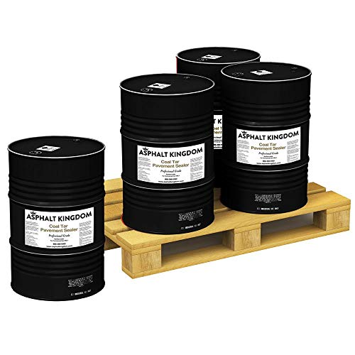 Coal Tar Asphalt Sealer for Sealcoating Driveways and Parking Lots | Four 55-Gallon Drums - 1 Pallet - 220 Gallons Blacktop Sealant