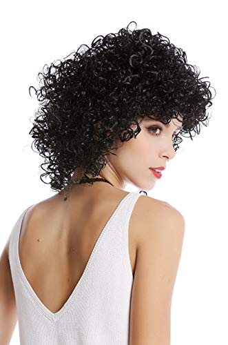 WIG ME UP- 90828-ZA103 Peluca Mujer Halloween Carnaval Negro Muy Rizado rizos voluminoso Afro Caribe Latina Diosa Griega