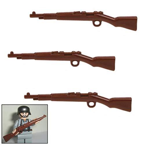 3X K98k Karabiner Gewehr DR WW2 - Custom Soldaten Waffen für Lego Figuren