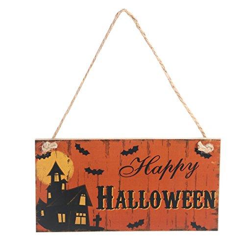 Healifty Decoraciones de la Puerta de Halloween Madera de Halloween y Signos de la Pared