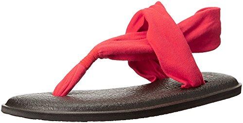 Sanuk Yoga Sling 2 Flip Flop para mujer, Rojo (Bright Red), 36 EU