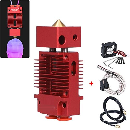 Printer Parts BIGTREETECH 2 IN 1 OUT Hotend Mixed Color Bowden Extruder 3D Printer Parts J-head Hotend 1.75mm Filament Fit For Titan Bulldog MK8 (Color : Red)