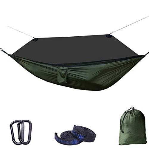 SHGK Hamac Anti-Moustique à l'extérieur Tissu Parachute Balançoire Chiffrement Maille Léger Forte Portant Confortable Respirant