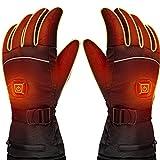 HZLGFX Gants Chauffants Fins, Batterie Gants Homme Femme, Lavable Gants Chauds d'hiver à écran Tactile, Adaptés à la Pêcher Cyclisme.(Size:Code XL)