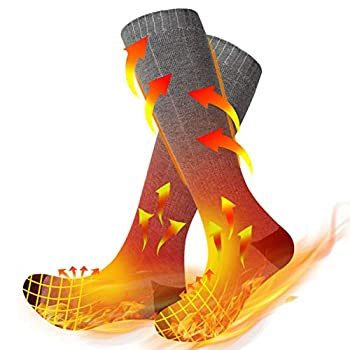 Heated Scoks,Winter Electric Upgraded Washable Rechargeable 3 Heating Settings Thermal Cotton Sock with Large Capacity Battery Up To 6-10Hours Heating Time for Men and Women,Winter Outdoor Warm Socks