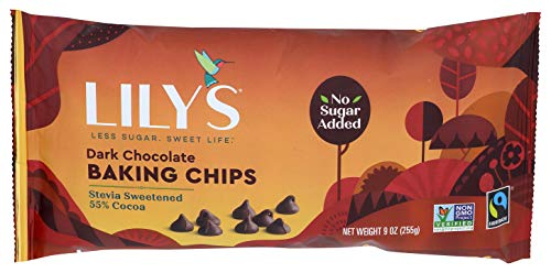 Lily's Sweets, Dark Chocolate Baking Chips, 9 Ounce