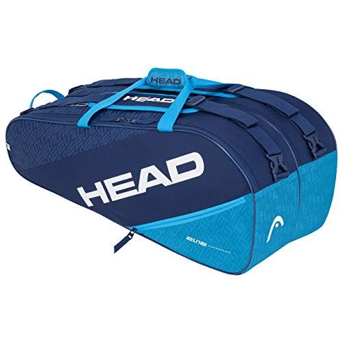 HEAD Unisex-Erwachsene Elite 9R Supercombi Tennistasche, Navy/blau